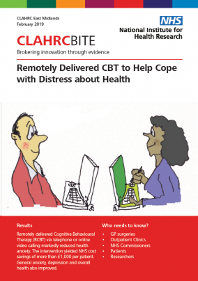 Remotely Delivered CBT to Help Cope with Distress about Health