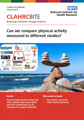 Can we compare physical activity measured in different studies?