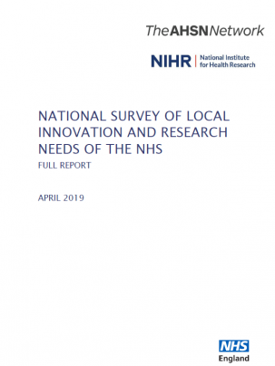 National survey of local innovation and research needs of the NHS