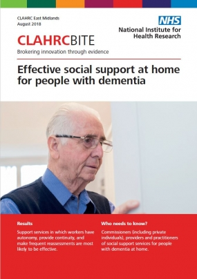 Effective social support at home for people with dementia