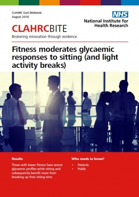 Fitness moderates glycaemic responses to sitting (and light activity breaks)