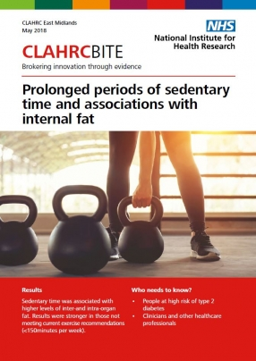 Prolonged periods of sedentary time and associations with internal fat