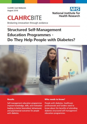 Structured Self-Management Education Programmes - Do They Help People with Diabetes?