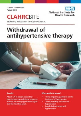 Withdrawal of antihypertensive therapy