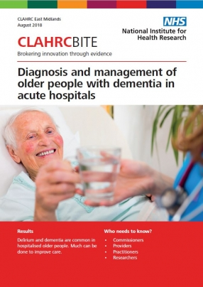 Diagnosis and management of older people with dementia in acute hospitals