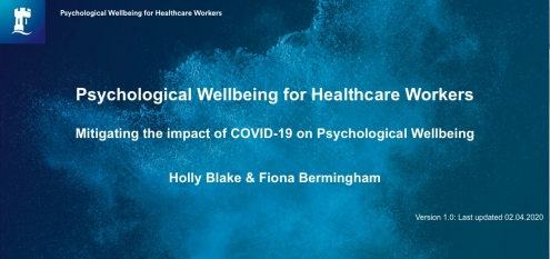 Psychological Wellbeing for Healthcare Workers: Mitigating the impact of COVID-19 on Psychological Wellbeing