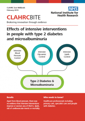 Effects of intensive interventions in people with type 2 diabetes and microalbuminuria