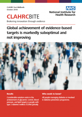 Global achievement of evidence-based targets is markedly suboptimal and  not improving