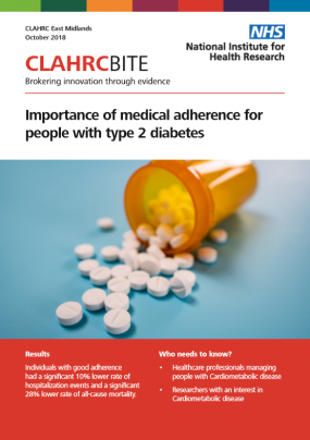 Importance of medical adherence for people with type 2 diabetes