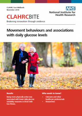 Movement behaviours and associations with daily glucose levels