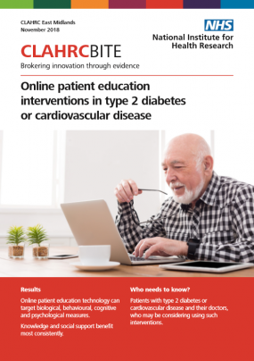 Online patient education interventions in type 2 diabetes or cardiovascular disease