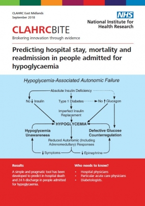 Predicting hospital stay, mortality and readmission in people admitted for hypoglycaemia: prognostic models derivation and validation