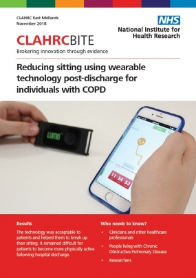 Reducing sitting using wearable technology post-discharge for individuals with COPD
