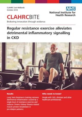 Regular resistance exercise alleviates detrimental inflammatory signalling in CKD