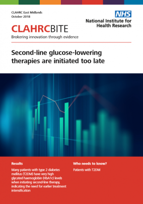 Second-line glucose-lowering therapies are initiated too late