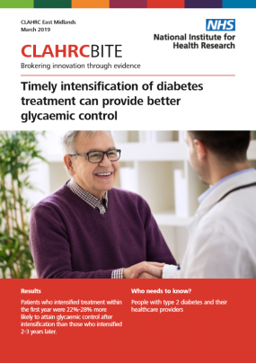 Timely intensification of diabetes treatment can provide better glycaemic control