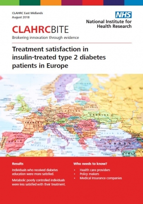 Treatment satisfaction in insulin-treated type 2 diabetes patients in Europe