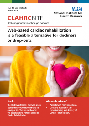 Web-based cardiac rehabilitation  is a feasible alternative for decliners  or drop-outs